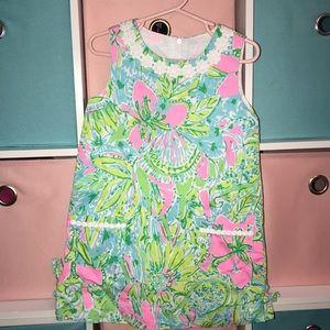 Lily Pulitzer girls shift dress size 4 worn 2x